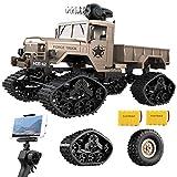 BHTKJ Remote Control Cars 1:16 Military Truck 4WD 2.4Ghz with Wi-Fi HD Camera