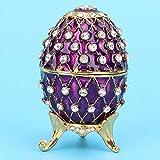 Joyero, Caja de Huevos de Pascua esmaltada, Diseño de Huevo de Pascua, Uso Duradero y Duradero, Aleación de Zinc, Joyero Organizador de Cocina
