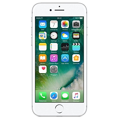 "Apple iPhone 7 - Smartphone DE 4,7"" con tecnología IPS (Chip A10 Fusión, cámara Dual 12 MP, IP67) Color Plata (Reacondicionado) (CPO)"
