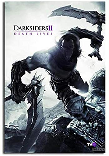 Rzhss Darksiders 2 Death Lives Game Canvas Posters Prints Wall Art Painting Picture Home Decor Print On Canvas -20X30 Inch No Frame