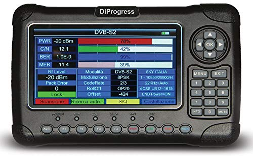 Diprogress DiProgress MAX 2, Misuratore Combo Tv Sat Fibra, 22 x 27 x 7 cm, 1, Nero