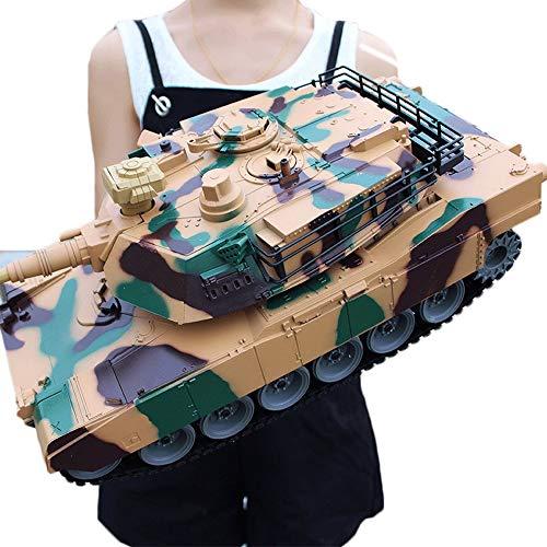 ZHANGL Super große 2,4g Fernbedienung Car Battle kann außerhalb der Road-Fernbedienung-Tank-Wagen-kühles rotierendes Turm-Metall-Tankmodell einlegen (Color : B)
