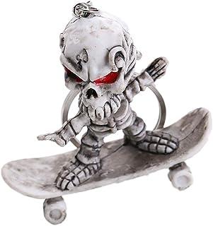 Generic 1 pc Keychain Rubber Skeleton Hanging Pendant Fashion Skateboard Handbag Car Keyring Decor