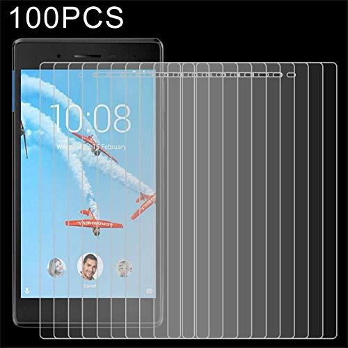 YEYOUCAI 100 piezas 0.3mm 9H Película de vidrio templado de pantalla completa para Lenovo Tab 7/Tab 4 TB-7504