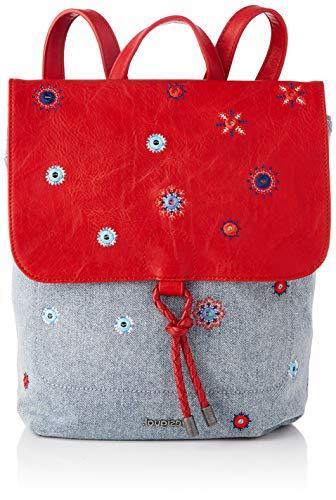 Desigual BACKPACK MEDIUM, Fabric-Mochila (tamaño mediano) para Mujer, rojo