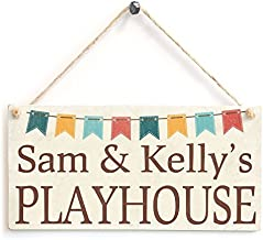Sam & Kelly's Playhouse-Custom Your Daughter Or Son Wood Sign By meijiafei