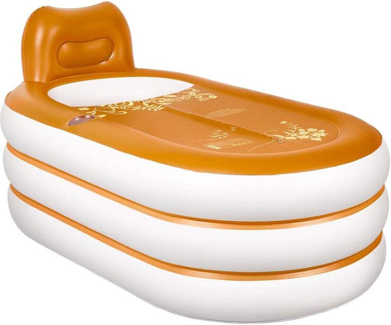 HZTWS Aufblasbare Badewanne Kunststoff Faltbare Verdickung Isolierung Erwachsenen Badewanne Thermalbad Goldenen europischen Stil