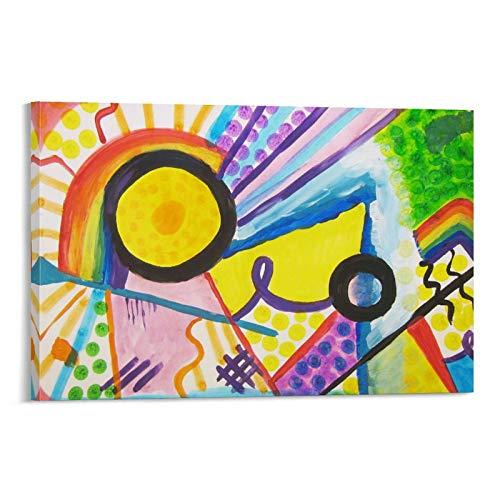 CMNHGCYD Kandinsky - Póster de lienzo y pared con diseño de cuadros abstractos, 20 x 30 cm