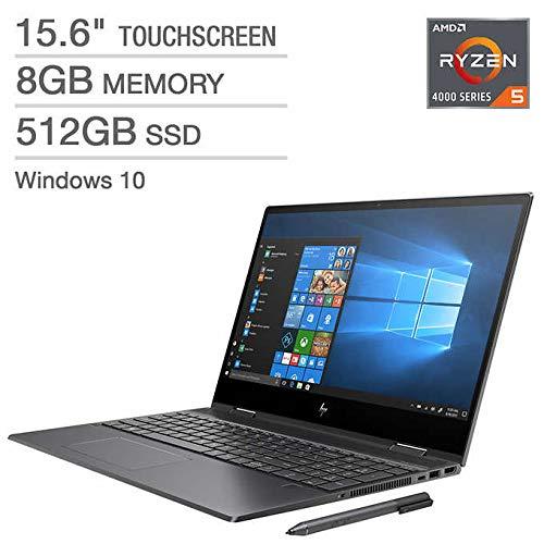 2020 HP Envy x360 2-in-1 Touchscreen Laptop: Ryzen 5 4500U 6-Core up to 4.00 GHz, 512GB SSD, 15.6