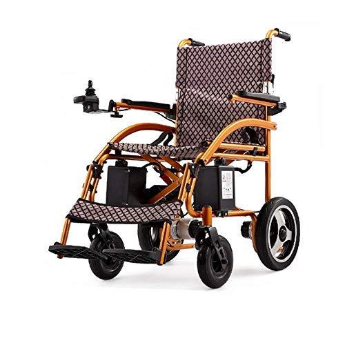 Hangerige, elektrische rolstoel, inklapbaar, lichte batterijen, zware houders, frame van aluminiumlegering in luchtvaartkwaliteit voor meer weerstand, stijve banden.