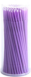 DZT1968 100Pc/Bottle Microblading Micro Brushes Swab Lint Free Tattoo Permanent Supplies (Purple)