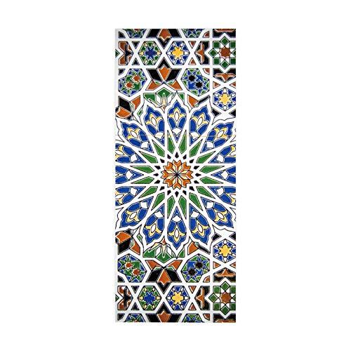 HOPAX Pegatinas de cerámica Coloridas Papel Tapiz Mural para Puerta Dormitorio Oficina Sala de Estar Carteles de baño decoración 90 * 200 cm