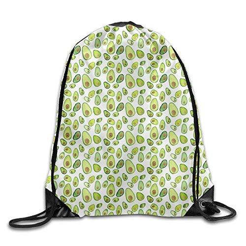 Etryrt Turnbeutel/Bedruckte Sportbeutel, Premium Drawstring Gym Bag, Avocado Fruit Casual Men Drawstring Backpack Heavy Duty Sports Backpack Volleyball