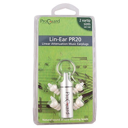 Pro Guard Lin-Ear PR20 Earplugs for Musicians and DJs