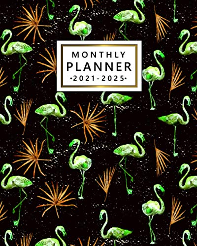 Monthly Planner 2021-2025: Awesome Alien Flamingo 5 Year Diary, Calendar, Organizer |...