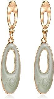 BGTKD Earrings Earrings Drop Oil Candy Oval Earrings Small Fragrance Geometric Earrings
