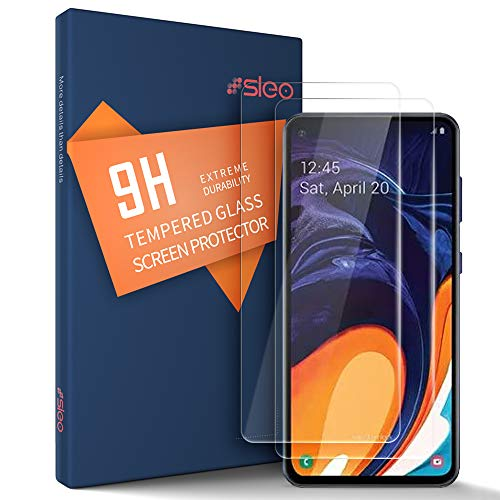 SLEO [2 Pack] Pellicola Protettiva Cover per Samsung Galaxy A60 9H 0,25mm HD, Pellicola Vetro Temperato per Samsung Galaxy A60 [Anti-riflesso Ultra-Resistente]