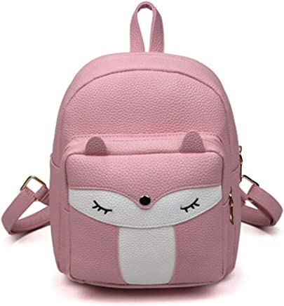 Cute Mini Leather Fox Fashion Backpack Small Daypacks Purse for Girls fd43ec1089925