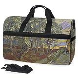 Montoj Van Gogh Paul's Hospital Maleta de equipaje deportivo, talla única, bolsa de viaje con correa ajustable