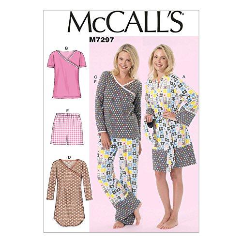 McCall's Patterns Schnittmuster 7297B5Größen 36–42 Damen-Bademantel/Gürtel/Tops/Kleid/Shorts und Hosen, Mehrfarbig (evtl. Nicht in Deutscher Sprache)