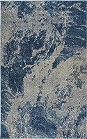 Addison Plano 星雲 ボーホー ブルー 7フィート10インチ x 10フィート7インチ エリアラグ