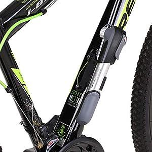 Lixada Bomba Bicicleta Mini Alta Presión Bomba de Aire de Mano para para Válvula de Presta y Schrader 80 PSI / 120 PSI