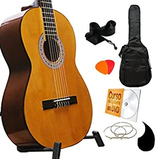 Guitarrra Clasica Nogal en Super paquete todo incluido,