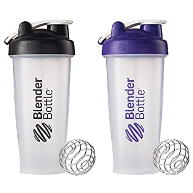 BlenderBottle Classic Loop Top Shaker Bottle, Colors May Vary, 28-Ounce 2-Pack