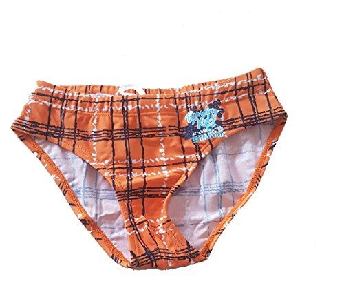 Lupilu Zwembroek voor kleine kinderen, oranje geruit