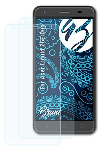 Bruni Schutzfolie kompatibel mit Acer Liquid Z6E Duo Folie, glasklare Bildschirmschutzfolie (2X)