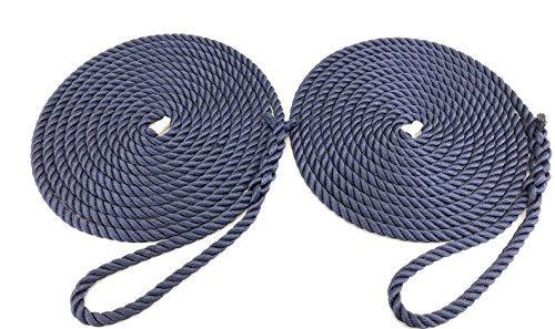 RopeServices UK 2x 15metres di 12mm blu navy softline Ormeggio corde. Warps linee, barca, yacht, Canal