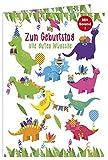 Geburtstagskarte mit Musik, Dinosaurier - Kinder Geburtstag