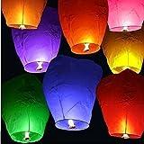 EROLLING Lanterne Volanti Cinesi Colorate, Assortiti