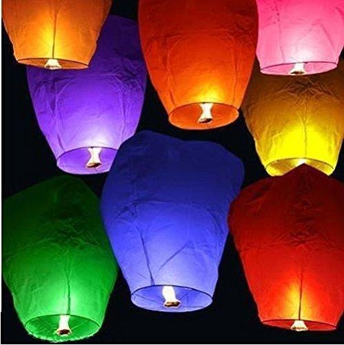 Erolling lanternes volantes chinoises colorées, assortis