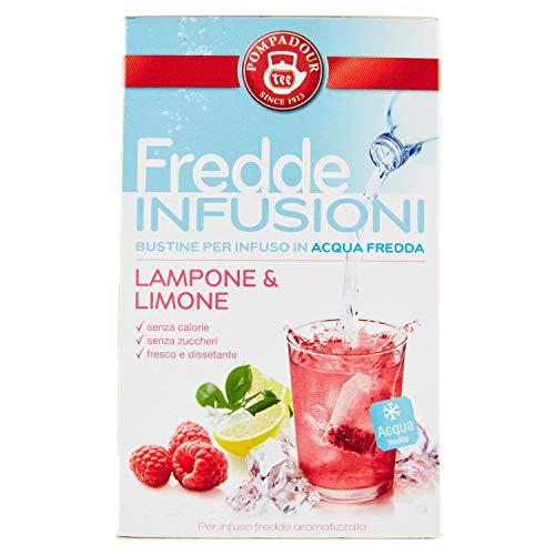 Pompadour Fredde Infusioni, Lampone Limone - 18 Filtri