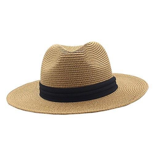 LSX Cooler Hut für Männer Sommer-Hut, Mann-Strohhut-im Freien Sommer-Fischen-Sonnenhut-Breathable Lichtschutz-Fischer-Hut-Strand-kühler Hut, 3 Farben optional (Farbe : 1#)