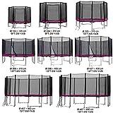 Gartentrampolin Kindertrampolin Trampolin 244 bis 250 cm pink komplettes Set mit Sicherheitsnetz und...