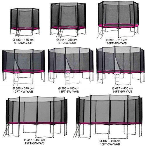 Baunsal GmbH & Co.KG Gartentrampolin Kindertrampolin Trampolin 305 bis 310 cm pink komplettes Set mit Sicherheitsnetz und Einstiegsleiter …