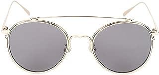LUKEEXIN Men's Women's Polarized Lens UV400 100% Sunglasses Metal Frame Dropping Fishing (Color : Silver Frame/Gray Lens)