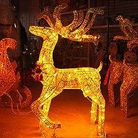 トナカイと明るいクリスマスの熱い白いLED、クリスマスの装飾の熱い鉄のフレーム室内または屋外の外観サンタ、1m der