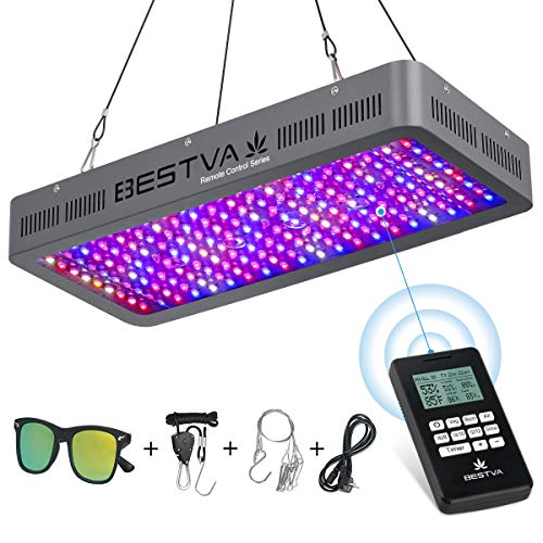BESTVA Remote Control Series 2000W LED Grow Light, with 4-in-1 Remote Control/Thermometer/Humidity...