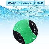 edealing Balle rebondissante d'eau de pour la Piscine et la mer - Jeu de Sports Aquatiques d'amusement pour la Famille et Les Amis - Rebond Doux et Fort Anti-Fissuration - 2,17 Pouces (Vert)