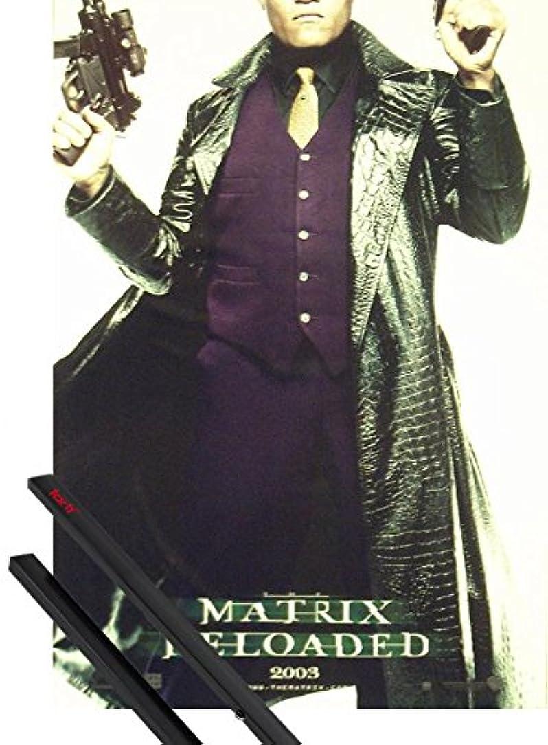名目上のクラッチスローガンポスター+マトリックス:ハンガーのポスター(39?x 28インチ) Reloaded、Morpheusおよび1のセットブラック1?art1ポスターハンガー
