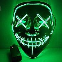 ハロウィン仮装 仮面 光る LED ハロウィンマスク コスプレ プレゼント ゾンビマスク ホラーマスク 変装マスク/調節可能 9色
