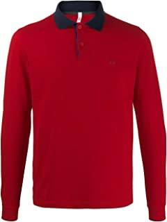 SUN 68 Luxury Fashion Mens A2910610 Red Polo Shirt | Fall Winter 19