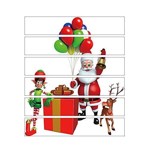 Weihnachten Treppenaufkleber Wandaufkleber 3D Simulation Wandtattoo Aufkleber Wasserdichte Diy Home Decor Wanddeko Wandtattoos Abziehbilder Wanddekoration Wandbilder Wohnkultur (D)