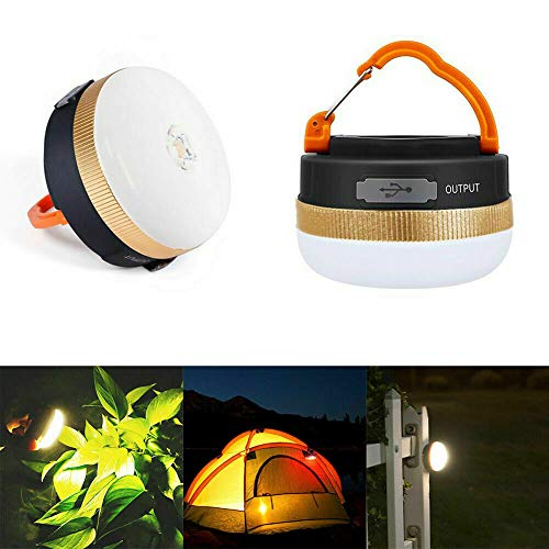 poiuyt Portable Rechargeable Led Hiking Camping Tent Lantern Light Usb Light Outdoor