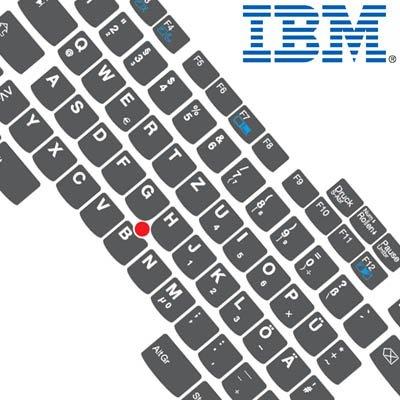 Tastaturaufkleber DEUTSCH speziell für IBM A, T u. R Serie