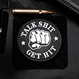 Talk Shit Get Hit PVC Rubber Morale Patch by NEO Tactical Gear Morale Patch
