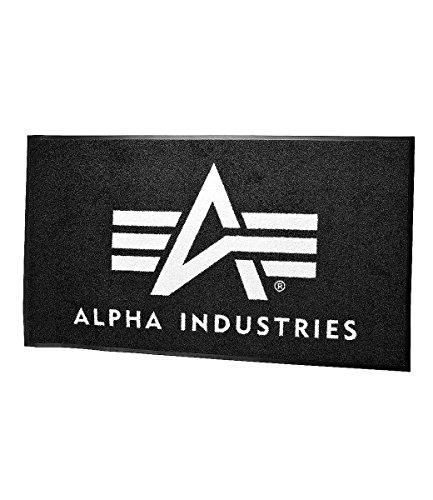Alpha Industries deurmat II, maat: één maat, kleur: zwart/wit